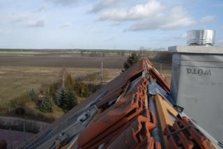 Blick über den Dachfirst