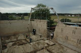 Fundamente werden gegossen