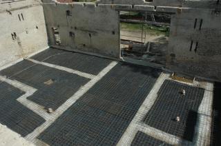 Stahlbewehrung für die Bodenplatte