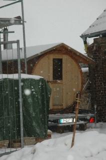 Sauna to go + Neuschnee!