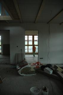 die neuen Räume werden inspiziert