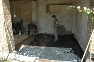 Bodenplatte vorbereiten