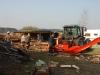 Holzaktion mit großem Gerät